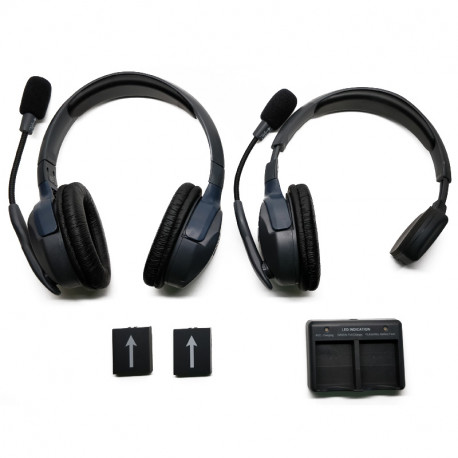 RC Communications Headset 2 Person System Double + Single